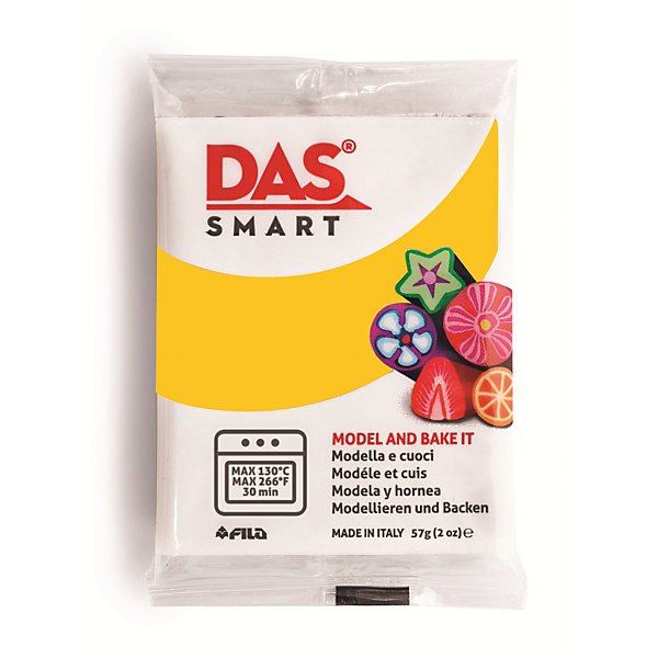 DAS Паста для моделирования, 57 гр., цвет желтый теплый наборы для лепки fila das паста для моделирования 150гр синяя