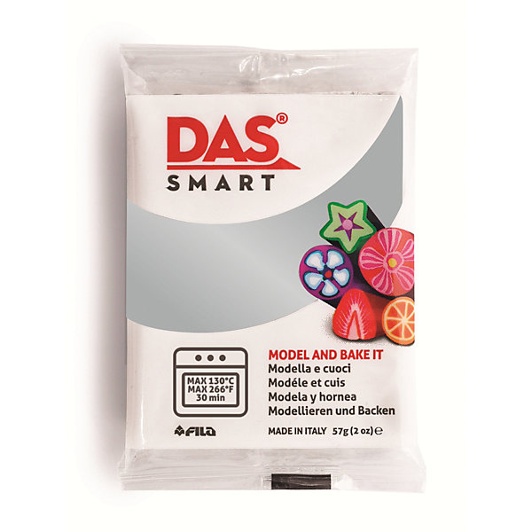 DAS Паста для моделирования, 57 гр., цвет серебряный наборы для лепки fila das паста для моделирования 150гр синяя