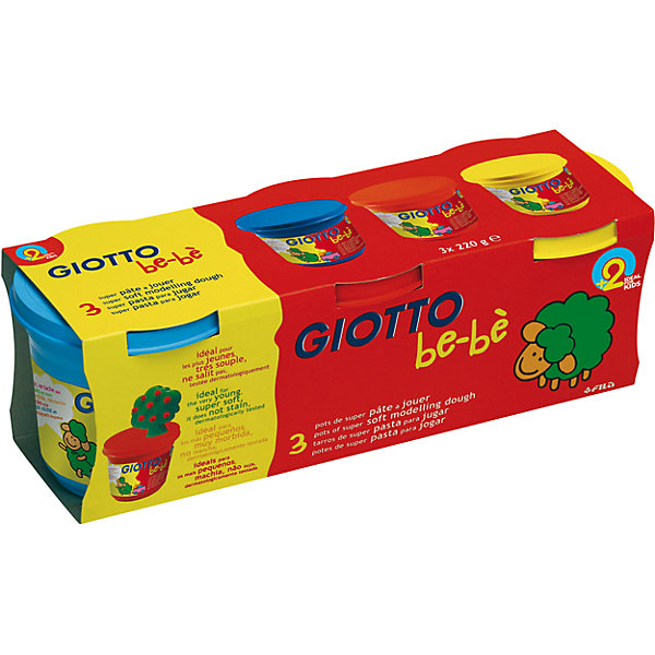GIOTTO Масса для лепки GIOTTO Be-Be Super Modeling Dough, 3 шт.