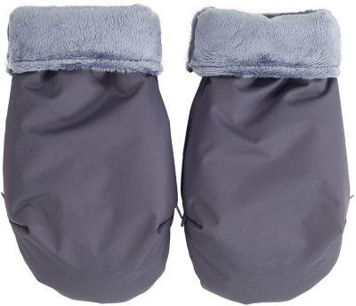 муфта для рук mammie шерсть эко замша цвет экрю Mammie Муфта-рукавички для маминых рук Mammie, серый