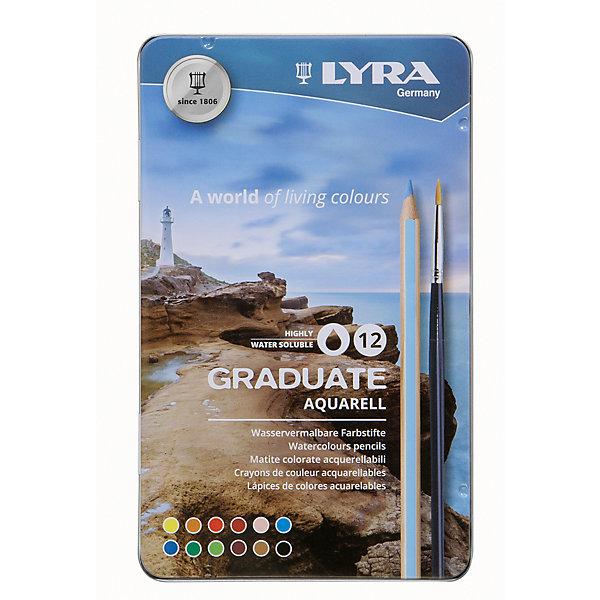 LYRA LYRA GRADUATE AQUARELL 12 цв. lyra утолщенные восковые карандаши 6 шт