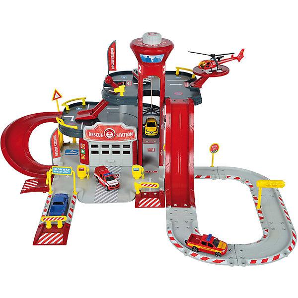 Majorette Парковка Majorette Creatix Пожарная станция, 1 машинка 1 вертолет majorette игровой набор парковка полицейская станция