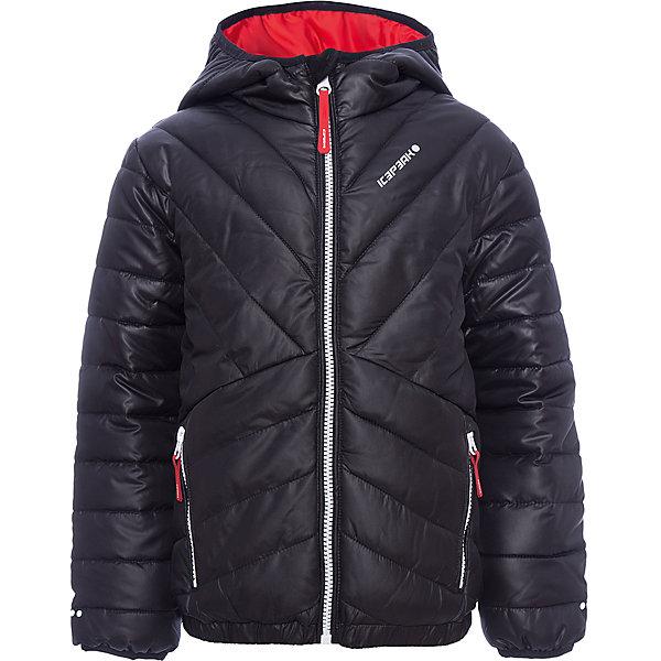Куртка ICEPEAK для мальчикаВерхняя одежда<br>Характеристики товара:  <br><br>• цвет: черный; <br>• состав ткани: 100% полиэстер; <br>• подкладка: 100% полиэстер;<br>• утеплитель: 100% полиэстер, искусственный пух;<br>• сезон: зима;<br>• температурный режим: от -20 до +5;<br>• особенности модели: с капюшоном, стеганая;<br>• капюшон: несъемный • плотность утеплителя: 200/120 г/м2;<br>• застежка: молния ;<br>• страна бренда: Финляндия ;<br>• комфорт и качество.<br><br>Такая детская куртка дополнена яркой подкладкой. Зимняя куртка дополнена удобными деталями - молния закрыта планкой, есть карманы. Эта теплая куртка для мальчика снабжена капюшоном.   <br><br>Куртку Icepeak (Айспик) для мальчика можно купить в нашем интернет-магазине.<br>Ширина мм: 356; Глубина мм: 10; Высота мм: 245; Вес г: 519; Цвет: черный; Возраст от месяцев: 60; Возраст до месяцев: 72; Пол: Мужской; Возраст: Детский; Размер: 116,176,164,152,140,128; SKU: 7264169;