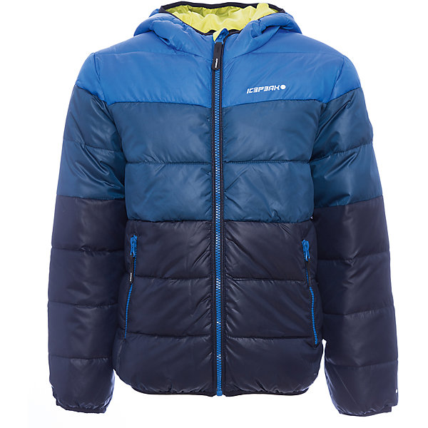 Куртка ICEPEAK для мальчикаВерхняя одежда<br>Характеристики товара: <br><br>• цвет: черный;<br>• состав ткани: 100% полиэстер;<br>• подкладка: 100% полиэстер;<br>• утеплитель: 100% полиэстер, искусственный пух;<br>• сезон: зима • температурный режим: от -20 до +5; <br>• особенности модели: с капюшоном, стеганая;<br>• капюшон: несъемный;<br>• плотность утеплителя: 200/120 г/м2;<br>• застежка: молния;<br>• страна бренда: Финляндия;<br>• комфорт и качество. <br><br>Детская куртка стильно смотрится и комфортно сидит. Зимняя куртка дополнена удобными деталями - молния закрыта планкой, есть карманы. Эта теплая куртка для мальчика снабжена капюшоном.   <br><br>Куртку Icepeak (Айспик) для мальчика можно купить в нашем интернет-магазине.<br>Ширина мм: 356; Глубина мм: 10; Высота мм: 245; Вес г: 519; Цвет: синий; Возраст от месяцев: 84; Возраст до месяцев: 96; Пол: Мужской; Возраст: Детский; Размер: 128,176,164,152,140; SKU: 7264188;