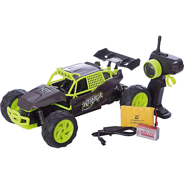 Пламенный мотор Радиоуправляемая машинка Пламенный мотор Багги ПМ 007, желтая машины chicco радиоуправляемая машинка buggy