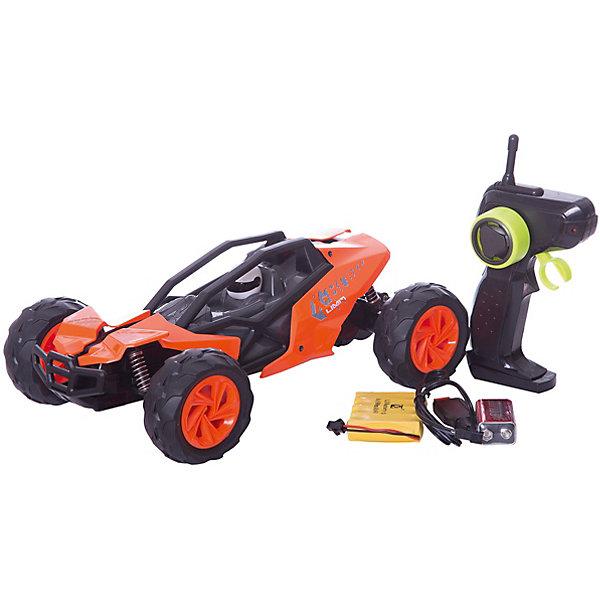Пламенный мотор Радиоуправляемая машинка Пламенный мотор Багги ПМ 007, оранжевая пламенный мотор пламенный мотор радиоуправляемая машина монстр трак пм 030 серый