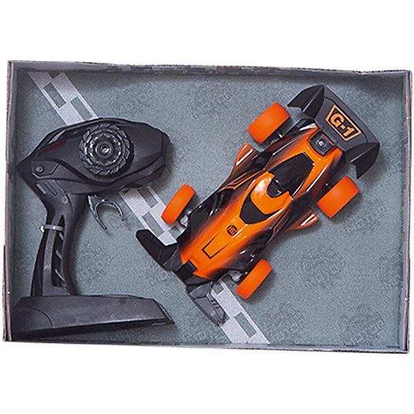 Пламенный мотор Радиоуправляемая машинка Пламенный мотор Болид ПМ 100, оранжевая машинка на радиоуправлении пламенный мотор внедорожник пм 040 пластик металл от 3 лет зелёный 870258