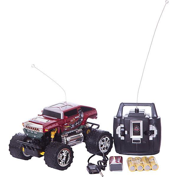 Пламенный мотор Радиоуправляемая машинка Пламенный мотор Джип ПМ-030, красный пламенный мотор пламенный мотор радиоуправляемая машина монстр трак пм 030 серый