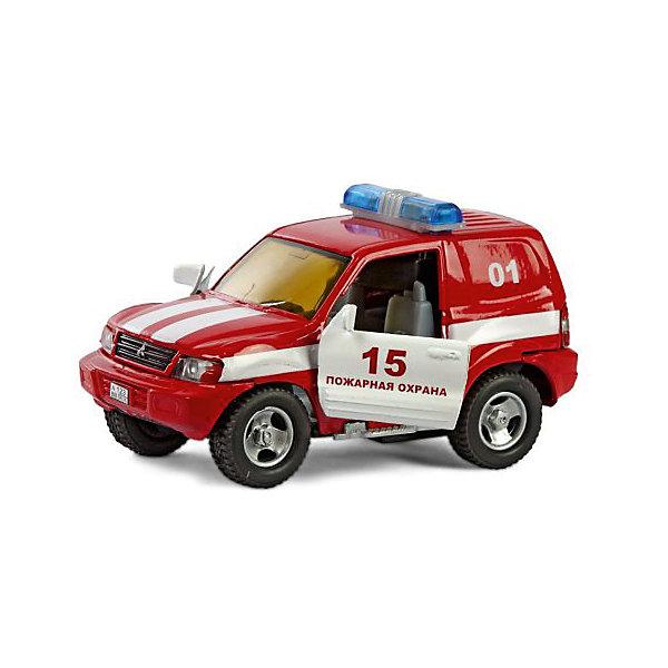 Пламенный мотор Коллекционная машинка Пламенный мотор По дорогам России Mitsubishi Пожарная охрана пожарная машина пламенный мотор 1 32 служба пожаротушения красный 18 см 870067