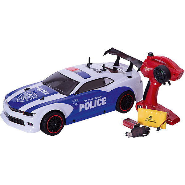 Пламенный мотор Радиоуправляемая машинка Пламенный мотор Спорткар ПМ-200, Полиция пламенный мотор пламенный мотор радиоуправляемая машина монстр трак пм 030 серый