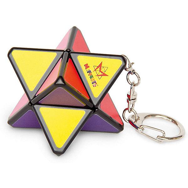 Брелок-головоломка Mefferts Мини Звезда ХаосаГоловоломки Кубик Рубика<br>Характеристики:<br><br>• игрушка-брелок PyraStar (Пирамида + Звезда);<br>• брелок на цепочке;<br>• головоломка состоит из соединения 2 треугольных пирамид, образуя 8-угольную звезду;<br>• в правильно собранной головоломке есть основной цвет и центральная мини-пирамидка с 3 другими цветами;<br>• материал: пластик;<br>• размер упаковки: 5х5х12 см;<br>• вес: 100 г.<br><br>Головоломка PyraStar (Пирамида + Звезда), у которой каждая из пирамид в основе - это правильный тетраэдр с 4 сторонами, раскрашенными в свой цвет. У Звезды Хаоса 8 плоскостей, но всего 4 цвета - в собранном состоянии противоположные стороны головоломки одинакового цвета. Звезда Хаоса мини имеет кольцо и цепочку, чтобы носить брелок на ключах или рюкзаке. Цепочка отсоединяется, чтобы удобнее использовать головоломку. Мини-карабинчик позволяет прикрепить цепочку к корпусу игрушки.<br><br>Брелок-Головоломка «Мини-Звезда Хаоса», можно купить в нашем интернет-магазине.<br>Ширина мм: 50; Глубина мм: 50; Высота мм: 120; Вес г: 100; Возраст от месяцев: 96; Возраст до месяцев: 2147483647; Пол: Унисекс; Возраст: Детский; SKU: 7272122;
