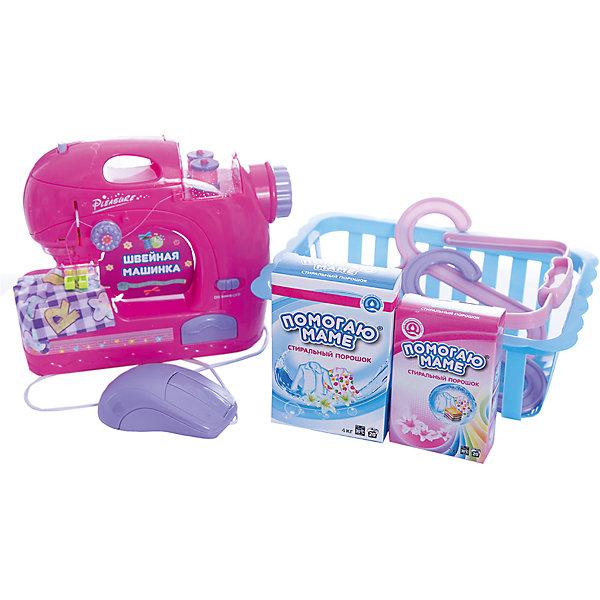 ABtoys Игровой набор Abtoys Помогаю маме Швейная машинка с аксессуарами для рыбалки бур