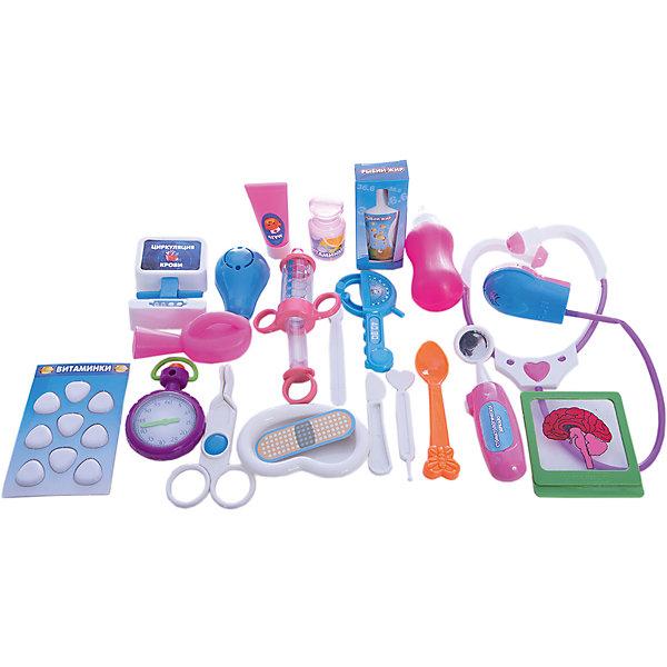 ABtoys Игровой набор Abtoys Маленький доктор в чемоданчике, 22 предмета 1 toy детский игровой набор доктор арт т56708