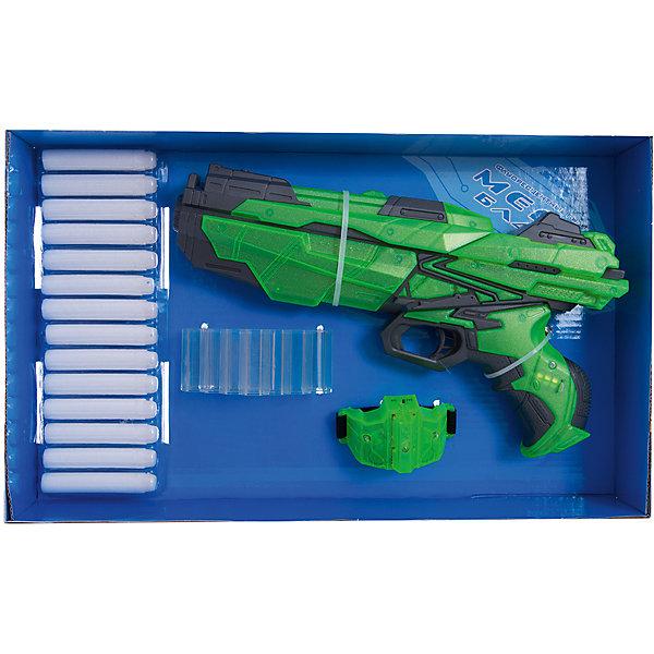 Мегабластер Abtoys с патронами и аксессуарами, зеленыйИгрушечные пистолеты и бластеры<br>Характеристики товара:<br><br>• возраст: от 6 лет;<br>• материал: пластик;<br>• в комплекте: бластер, 14 патронов, патронтаж, браслет;<br>• тип батареек: 3 батарейки AG13 (для браслета), 3 батарейки АА (для бластера);<br>• наличие батареек: батарейки для браслета в комплекте, батарейки для бластера в комплект не входят;<br>• размер упаковки: 39,5х24,8х6,5 см;<br>• вес упаковки: 646 гр.;<br>• страна производитель: Китай.<br><br>Мегабластер Abtoys с патронами и аксессуарами позволит устроить захватывающие бои или потренироваться в ловкости и меткости. Бластер стреляет мягкими снарядами, которые не наносят травм. Дальность стрельбы составляет целых 14 метров. Бластер и браслет оснащены световыми эффектами.<br><br>Мегабластер Abtoys с патронами и аксессуарами можно приобрести в нашем интернет-магазине.<br>Ширина мм: 395; Глубина мм: 65; Высота мм: 248; Вес г: 650; Возраст от месяцев: 72; Возраст до месяцев: 180; Пол: Мужской; Возраст: Детский; SKU: 7276544;