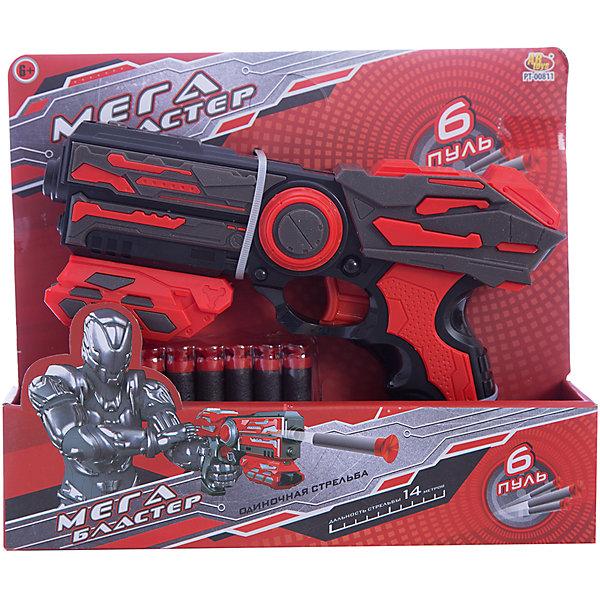 ABtoys Мегабластер Abtoys с мягкими пулями, красный бластер играем вместе тачки с мягкими патронами 25 см