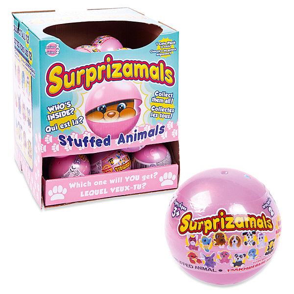 Мягкая игрушка Surprizamals в капсуле, серия 2Мягкие игрушки животные<br>Характеристики товара:<br><br>• возраст: от 3 лет;<br>• материал: пластик, плюш;<br>• в комплекте: шар, 1 игрушка, буклет коллекционера;<br>• диаметр шара: 6 см;<br>• размер упаковки: 6х6х6 см;<br>• вес упаковки: 30 гр.;<br>• страна производитель: Китай;<br>• товар представлен в ассортименте.<br><br>Мягкая игрушка Surprizamals в капсуле Серия 2— маленький пушистый зверек, спрятанный в капсуле. Так как капсула непрозрачная, то какой именно зверек попадется внутри, станет сюрпризом. Игрушка выполнена из мягкого приятного плюша. Памятка коллекционера позволит разобраться во всей коллекции, записать уже имеющихся зверьков. Всего есть 4 вида зверьков: обычные, коллекционные, редкие, ультраредкие.<br><br>Мягкую игрушку Surprizamals в капсуле Серия 2 можно приобрести в нашем интернет-магазине.<br>Ширина мм: 65; Глубина мм: 65; Высота мм: 65; Вес г: 110; Возраст от месяцев: 36; Возраст до месяцев: 120; Пол: Женский; Возраст: Детский; SKU: 7276547;