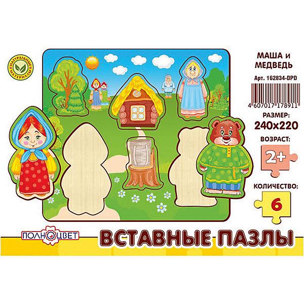 Пазлы вставные МАША И МЕДВЕДЬРамки-вкладыши<br>Характеристики товара:<br><br>• возраст: от 3 лет; <br>• материал: фанера березовая шлифованная;<br>• размер упаковки: 24х22х0,6 см.;<br>• упаковка: гофрокороб;<br>• краска: водная.<br><br>Игрушка представляет собой деревянные вставные пазлы с высококачественной печатью. Рекомендовано для детских садов и центров, а также для домашнего использования.<br><br>Пазлы выполнены из натурального дерева с помощью лазерной резки. <br> <br>Материал имеет высокий срок службы и устойчивость к нагрузкам, экологичен и безопасен.  <br><br>Пазлы вставные с изображением маши и медведя можно купить в нашем интернет-магазине.<br>Ширина мм: 10; Глубина мм: 240; Высота мм: 220; Вес г: 220; Возраст от месяцев: 36; Возраст до месяцев: 84; Пол: Унисекс; Возраст: Детский; SKU: 7276662;