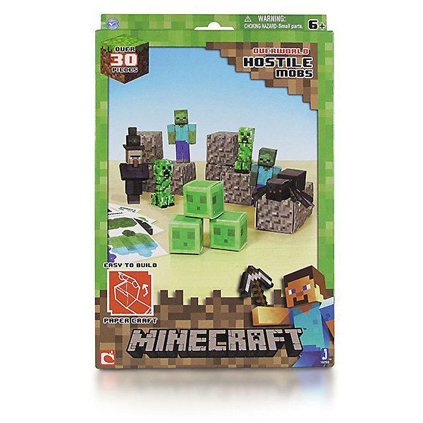 цена на Minecraft Сборная модель из бумаги MINECRAFT PAPERCRAFT Враждебные мобы 30 деталей