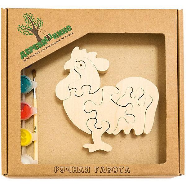 Развивающий пазл Петушок 3Пазлы для малышей<br>Характеристики товара:<br><br>• возраст: от 3 лет;   <br>• персонаж: петушок;<br>• количество деталей: 11 шт.;<br>• материал: пластик, дерево, краски;<br>• комплект: элементы пазла, кисточка, краски 6 цветов;<br>• размер упаковки: 20х20х3 см.;<br>• упаковка: картонная коробка блистерного типа;<br>• cтрана обладатель бренда: Россия.<br><br>Игрушка собирается и разбирается по принципу пазла, что поможет ребенку в игровой форме развить внимание, логическое и образное мышление. <br><br>Собрав петушка, его можно раскрасить по своему усмотрению, использовав краски и кисточку из набора.<br><br>Элементы игрушки изготовлены из экологически чистой березовой древесины.<br><br>Развивающий пазл можно купить в нашем интернет-магазине.<br>Ширина мм: 30; Глубина мм: 200; Высота мм: 200; Вес г: 200; Возраст от месяцев: 36; Возраст до месяцев: 84; Пол: Унисекс; Возраст: Детский; SKU: 7276689;