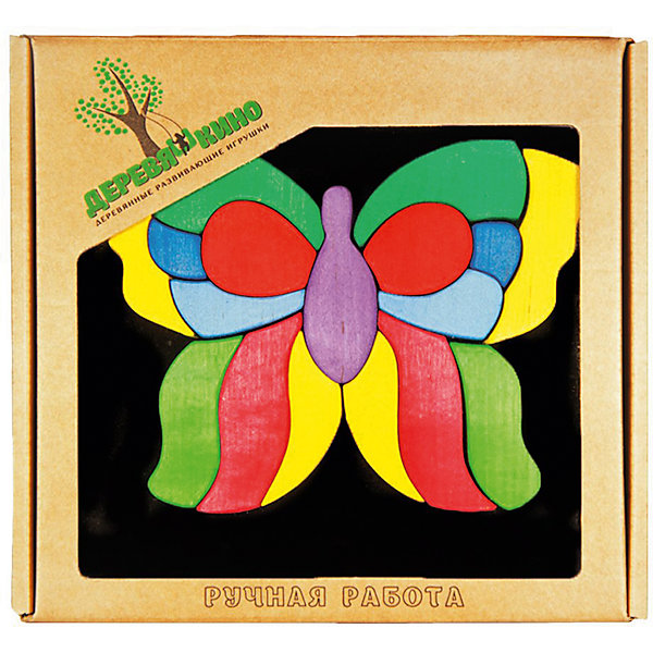 Магнитный пазл Бабочка лайф от Деревяшкино