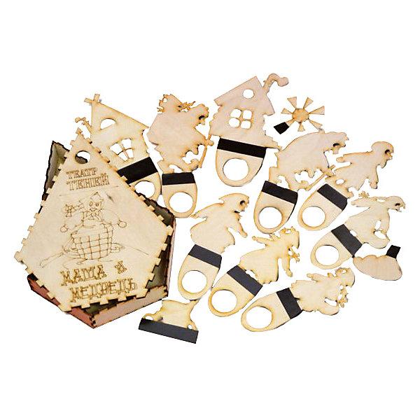 Фигура для театра теней МАША И МЕДВЕДЬКукольный театр<br>Характеристики товара:<br><br>• возраст: от 3 лет; <br>• комплект: фигурки для театра теней, коробочка;<br>• материал: дерево, магнитный винил;<br>• упаковка: пленка;<br>• размер упаковки: 22х16,8х3 см.;<br>• страна обладатель бренда: Россия.<br><br>Фигурки для театра теней Маша и медведь позволят ребенку вместе с родителями устроить удивительный спектакль по мотивам известной русской сказки. <br><br>Каждая фигурка выполнена из фанеры и выглядит очень качественно. Для большего удобства, каждая фигурка имеет удобную ручку. Импровизированный домашний спектакль будет очень полезен для развития у ребенка артистических способностей, речи и словарного запаса.<br><br>Ширма в комплект не входит и приобретается отдельно.<br><br>Фигурки для театра теней  можно купить в нашем интернет-магазине.<br>Ширина мм: 30; Глубина мм: 220; Высота мм: 170; Вес г: 250; Возраст от месяцев: 36; Возраст до месяцев: 84; Пол: Унисекс; Возраст: Детский; SKU: 7276714;