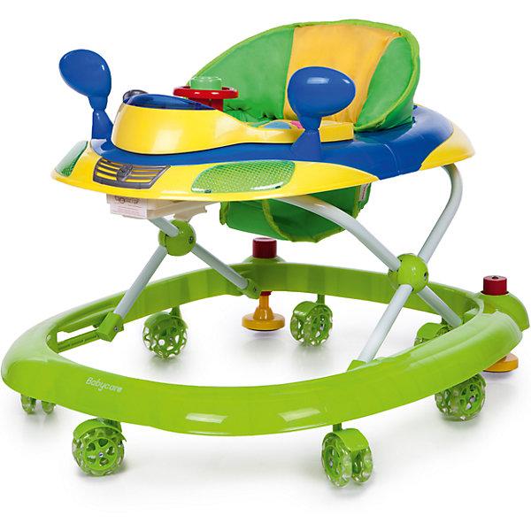 Ходунки Baby Care Prix, зеленыйХодунки<br>арактеристики товара:<br><br>• возраст от 8 месяцев;<br>• допустимый вес эксплуатации: 12 кг<br>• материал: пластик;<br>• регулировка по высоте в 3 положениях;<br>• игровая панель со световыми эффектами;<br>• 8 силиконовых колес;<br>• размер ходунков 65х56х52 см;<br>• вес 2,8 кг;<br>• размер упаковки 66х57х14 см;<br>• вес упаковки 3,4 кг.<br><br>Ходунки Baby Care Prix учат малыша передвигаться самостоятельно и держать равновесие. Ходунки оборудованы сидением с мягкой обивкой. Высоту сидения можно отрегулировать по мере роста малыша. Спереди расположена игровая панель со световыми эффектами. В процессе игры у него развиваются мелкая моторика рук, цветовое и зрительное восприятие. Конструкция отличается хорошей устойчивостью. Колеса изготовлены из силикона и не повреждают напольное покрытие. <br><br>Ходунки Baby Care Prix можно приобрести в нашем интернет-магазине.<br>Ширина мм: 660; Глубина мм: 570; Высота мм: 140; Вес г: 3400; Цвет: зеленый; Возраст от месяцев: 8; Возраст до месяцев: 15; Пол: Унисекс; Возраст: Детский; SKU: 7297646;