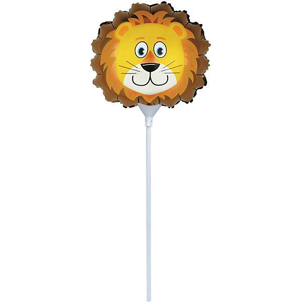 ACTION! ШАР ФОЛЬГИРОВАННЫЙ, на палочке 30 см, ЛЕВ шар фольгированный сима ленд колясочка для девочки 1160915