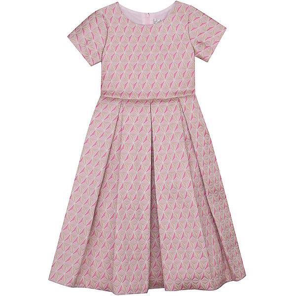 Нарядное платье Vitacci для девочкиОдежда<br>Характеристики товара:<br><br>• цвет: розовый;<br>• состав: 100% полиэстер;<br>• подкладка: 100% хлопок;<br>• сезон: круглый год;<br>• особенности: нарядное, на подкладке, с рисунком;<br>• застежка: молния на спинке;<br>• завышенная талия;<br>• с коротким рукавом;<br>• абстрактный рисунок;<br>• страна бренда: Италия;<br>• страна изготовитель: Китай.<br><br>Нарядное платье с коротким рукавом для девочки. Застегивается на молнию сзади. Завышенная талия, платье декорировано абстрактным рисунком.<br><br>Нарядное платье Vitacci (Витачи) можно купить в нашем интернет-магазине.<br>Ширина мм: 236; Глубина мм: 16; Высота мм: 184; Вес г: 177; Цвет: розовый; Возраст от месяцев: 96; Возраст до месяцев: 108; Пол: Женский; Возраст: Детский; Размер: 120,110,100,90,130; SKU: 7300997;