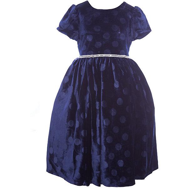 Нарядное платье Vitacci для девочкиОдежда<br>Характеристики товара:<br><br>• цвет: синий;<br>• состав: 100% полиэстер;<br>• подкладка: 100% хлопок;<br>• сезон: круглый год;<br>• особенности: нарядное, на подкладке, в горох;<br>• застежка: молния на спинке;<br>• поясок;<br>• с коротким рукавом;<br>• страна бренда: Италия;<br>• страна изготовитель: Китай.<br><br>Нарядное платье с коротким рукавом для девочки. Бархатное платье застегивается сзади на молнию. Платье с пояском в виде бусин-жемчужин, дополнено рисунком в крупый горох..<br><br>Нарядное платье Vitacci (Витачи) можно купить в нашем интернет-магазине.<br>Ширина мм: 236; Глубина мм: 16; Высота мм: 184; Вес г: 177; Цвет: синий; Возраст от месяцев: 12; Возраст до месяцев: 15; Пол: Женский; Возраст: Детский; Размер: 86,110,104,98,92; SKU: 7301057;