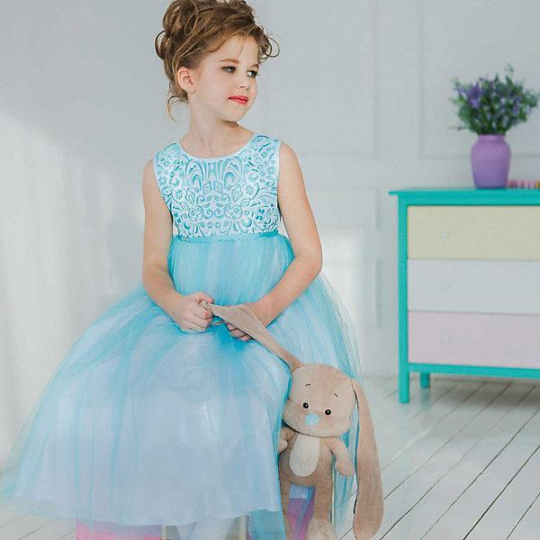 Купить Нарядное платье Unona, Россия, голубой, 122, 134, 116, 128, Женский