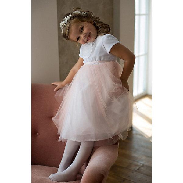 Платье нарядное Unona D'art для девочки, Розовый, Платье нарядное Unona D'art для девочки