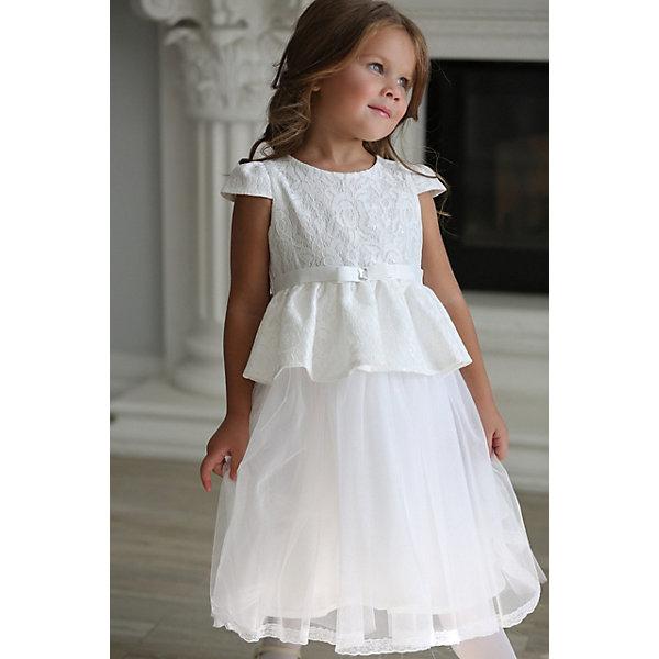 Unona Нарядное платье Unona футболка с коротким рукавом для девочки barkito база