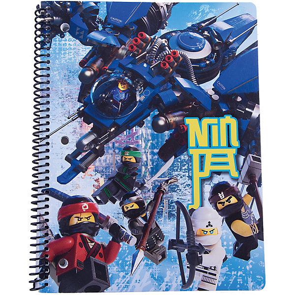 LEGO Тетрадь на спирали (70 листов, линейка) LEGO Ninjago Movie (Лего Фильм: Ниндзяго), размер: 20,3х26,6см книга для записей lego batman movie с подсветкой 80 листов линейка
