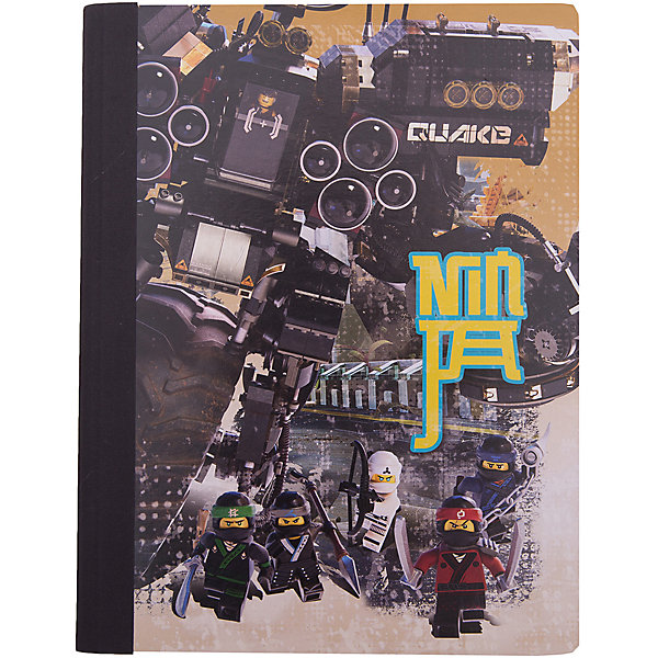 LEGO Тетрадь (100 листов, линейка) LEGO Ninjago Movie (Лего Фильм: Ниндзяго), размер: 19х24,7 см