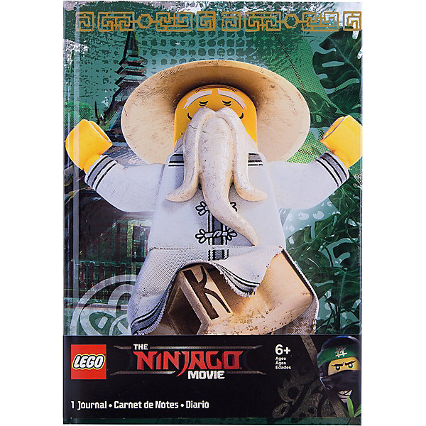 LEGO Книга для записей (96 листов, линейка) с резинкой LEGO Ninjago Movie (Лего Фильм: Ниндзяго)-Sensei Wu цена