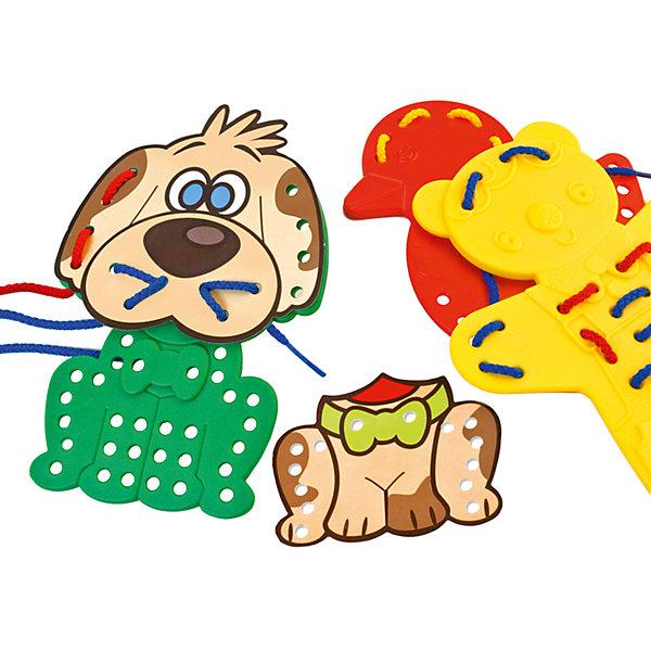 Шнуровка Животные, MinilandОбучающие игры<br>Характеристики:<br><br>• цель игры: нанизывание элементов;<br>• детали шнуровки выполнены в виде силуэтов животных;<br>• детали можно мыть влажной губкой;<br>• набор упакован в чемоданчик:<br>• материал: пластик, полимерные материалы, текстиль;<br>• размер упаковки: 18,5х23х6 см;<br>• вес: 260 г.<br><br>Обучающий набор Miniland «Животные» представляет собой шнуровку с силуэтами животных. Детали имеют специальные отверстия, в которые вдевается текстильный шнурок. Детали изготовлены из пластика, цветные и прочные. В процессе игры развивается мелкая моторика рук, тактильная память, творческое воображение.<br><br>Шнуровку «Животные», Miniland можно купить в нашем интернет-магазине.<br>Ширина мм: 185; Глубина мм: 232; Высота мм: 60; Вес г: 260; Возраст от месяцев: 36; Возраст до месяцев: 2147483647; Пол: Унисекс; Возраст: Детский; SKU: 7311173;