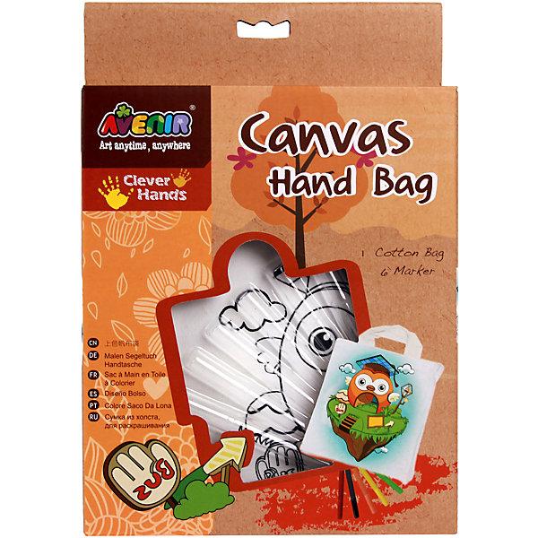 Avenir Набор для раскрашивания сумки из холста Сова