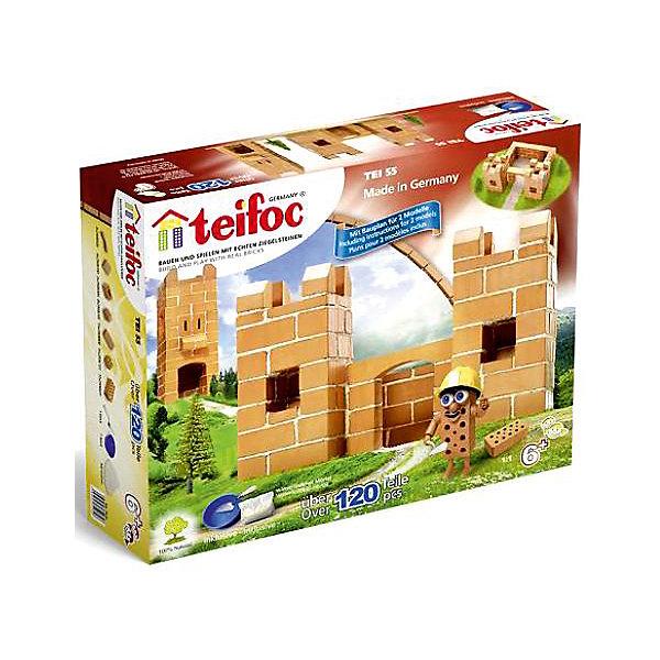 teifoc Конструктор из кирпичиков Teifoc Крепость, 120 деталей teifoc конструктор из кирпичиков teifoc серпантин 210 деталей