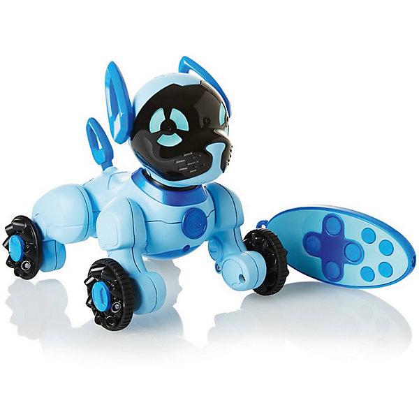 Интерактивная игрушка Wowwee Собачка Чиппи, голубаяИнтерактивные животные<br>Характеристики товара:<br><br>• в комплекте: робот, пульт управления, инструкция;<br>• возраст: от 4 лет;<br>• батарейки: ААА - 7 шт. (не входят в комплект);<br>• материал: пластик;<br>• цвет: голубой;<br>• размер робота: 15,5х12,5х16 см;<br>• страна: Китай.<br><br>Забавная собака Чиппи - отличная альтернатива настоящему щенку. Собака умеет чихать, играть, нюхать, лаять, выть, скулить и даже целоваться. Игрушкой можно управлять при помощи пульта управления: Чиппи сможет петь, танцевать, кататься и бегать за хвостиком. Встроенные датчики позволяют Чиппи осматривать комнату и охранять дом. Собака-робот Чиппи совместима с собакой CHIP.<br><br>Собачку «Чиппи» голубую, WowWee (ВовВи) можно купить в нашем интернет-магазине.<br>Ширина мм: 200; Глубина мм: 200; Высота мм: 200; Вес г: 450; Цвет: голубой; Возраст от месяцев: 60; Возраст до месяцев: 2147483647; Пол: Унисекс; Возраст: Детский; SKU: 7314003;