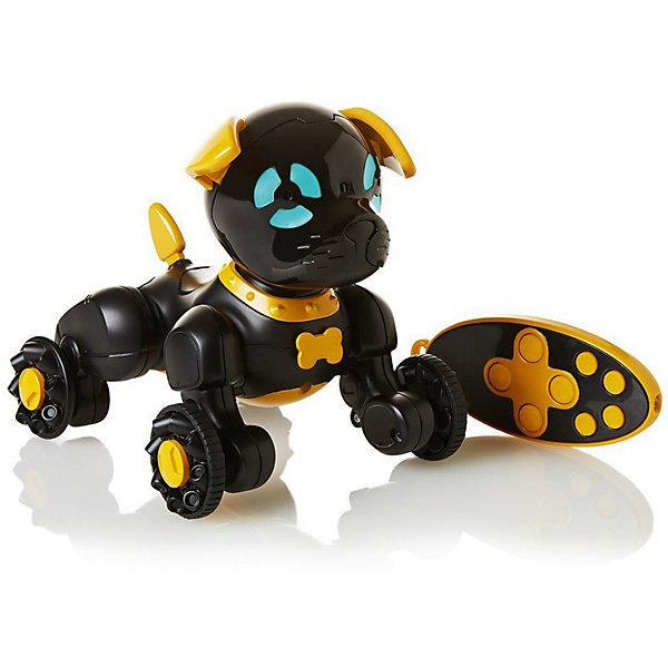Интерактивная игрушка Wowwee Собачка Чиппи, чернаяИнтерактивные животные<br>Характеристики товара:<br><br>• в комплекте: робот, пульт управления, инструкция;<br>• возраст: от 4 лет;<br>• батарейки: ААА - 7 шт. (не входят в комплект);<br>• материал: пластик;<br>• цвет: черный;<br>• размер робота: 15,5х12,5х16 см;<br>• страна: Китай.<br><br>Забавная собака Чиппи - отличная альтернатива настоящему щенку. Собака умеет чихать, играть, нюхать, лаять, выть, скулить и даже целоваться. Игрушкой можно управлять при помощи пульта управления: Чиппи сможет петь, танцевать, кататься и бегать за хвостиком. Встроенные датчики позволяют Чиппи осматривать комнату и охранять дом. Собака-робот Чиппи совместима с собакой CHIP.<br><br>Собачку «Чиппи» черную, WowWee (ВовВи) можно купить в нашем интернет-магазине.<br>Ширина мм: 200; Глубина мм: 200; Высота мм: 200; Вес г: 450; Цвет: черный; Возраст от месяцев: 60; Возраст до месяцев: 2147483647; Пол: Унисекс; Возраст: Детский; SKU: 7314004;