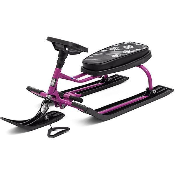 Барс Снегокат Барс 001, черно-фиолетовый