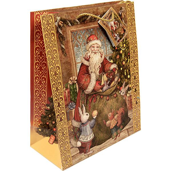 Бумажный пакет Мешок с подарками для сувенирной продукции , с ламинациейУпаковка новогоднего подарка<br>Характеристики:<br><br>• размер пакета: 48,9х40,6х19 см;<br>• ширина основания: 40,6 см;<br>• плотность бумаги: 157 г/м2;<br>• масса: 186 г.<br><br>Красивый ламинированный пакет понадобится для упаковки подарков и сувениров. Пакет удобного размера, поэтому может вместить достаточно большой презент.<br><br>Тематическая новогодняя иллюстрация на пакете подойдет и для взрослых, и для детей. Две прочные ручки надежно закреплены. Плотная бумага хорошо держит форму.<br><br>Подарочный пакет необходим для хорошего оформления подарков друзьям и родным.<br><br>Бумажный пакет «Мешок с подарками» для сувенирной продукции, с ламинацией, Magic Time можно купить в нашем интернет-магазине.<br>Ширина мм: 490; Глубина мм: 406; Высота мм: 1; Вес г: 186; Возраст от месяцев: 36; Возраст до месяцев: 2147483647; Пол: Унисекс; Возраст: Детский; SKU: 7317193;