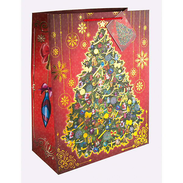 Magic Time Бумажный пакет Новогодняя ночь для сувенирной продукции, с ламинацией бант декоративный magic home для оформления подарков 76948
