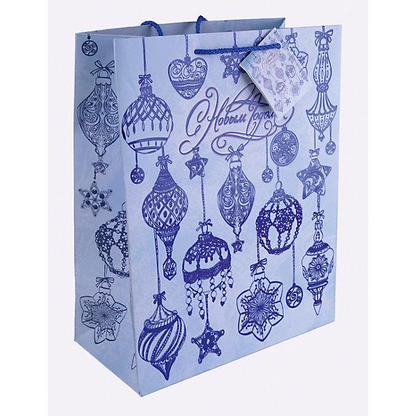 Бумажный пакет Синие новогодние шары для сувенирной продукции, с ламинациейНовогодние пакеты<br>Характеристики:<br><br>• размер пакета: 32,4х26х12,7 см;<br>• ширина основания: 26 см;<br>• плотность бумаги: 250 г/м2;<br>• масса: 107 г.<br><br>Красивый ламинированный пакет понадобится для упаковки подарков и сувениров. Пакет удобного размера, он может вместить презент среднего размера.<br><br>Тематическая новогодняя иллюстрация на пакете подойдет и для взрослых, и для детей. Две прочные ручки надежно закреплены. Очень плотная бумага хорошо держит форму.<br><br>Подарочный пакет необходим для хорошего оформления подарков друзьям и родным.<br><br>Бумажный пакет «Синие новогодние шары» для сувенирной продукции, с ламинацией, Magic Time можно купить в нашем интернет-магазине.<br>Ширина мм: 325; Глубина мм: 260; Высота мм: 1; Вес г: 107; Возраст от месяцев: 36; Возраст до месяцев: 2147483647; Пол: Унисекс; Возраст: Детский; SKU: 7317207;