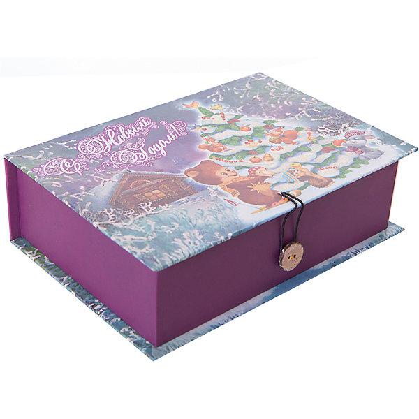 Magic Time Подарочная коробка НАРЯДНАЯ ЕЛОЧКА M коробочка для денег подарочная magic time новогодние часы 76349