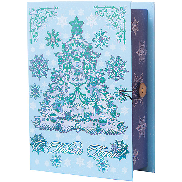 Magic Time Подарочная коробка Елочка в голубом-M