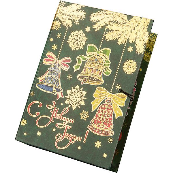 Magic Time Подарочная коробка Елка с колокольчиками-M коробочка для денег подарочная magic time новогодние часы 76349