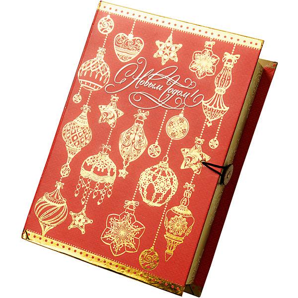 Magic Time Подарочная коробка Золото на красном-M коробочка для денег подарочная magic time новогодние часы 76349