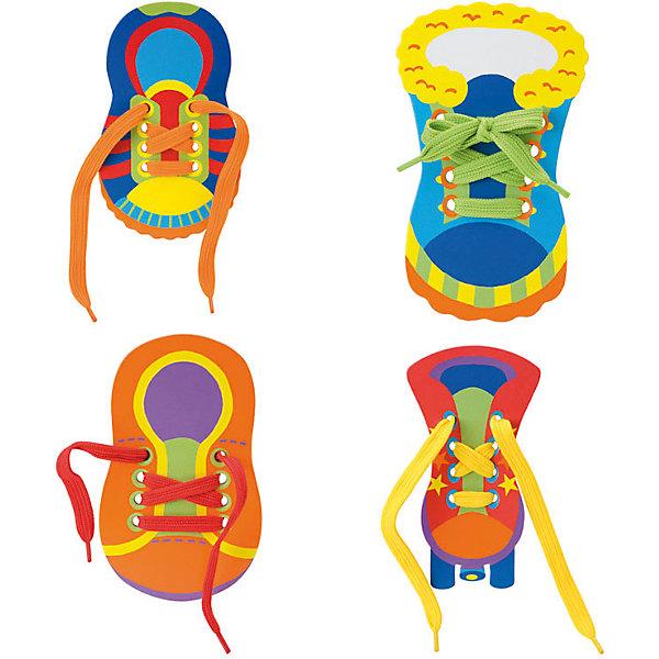 Игрушка-шнуровка Alex Little Hands Раз, два, зашнуруй меня!Развивающие игрушки<br>Характеристики товара:<br><br>• возраст: от 3 лет;<br>• материал: ПВХ, текстиль;<br>• в комплекте: 4 ботинка со шнуровками;<br>• размер упаковки: 20,3х20,3х3,8 см;<br>• вес упаковки: 181 гр.;<br>• страна производитель: Китай.<br><br>Игрушка-шнуровка «Раз, два, зашнуруй меня» Alex — развивающая детская игрушка. В комплекте 4 разноцветных ботиночка со шнурками, которые научат малыша не только самостоятельно завязывать шнурки на обуви, но и поспособствуют развитию мелкой моторики рук и тактильных ощущений. Игрушка выполнена из безопасных материалов.<br><br>Игрушку-шнуровку «Раз, два, зашнуруй меня» Alex можно приобрести в нашем интернет-магазине.<br>Ширина мм: 210; Глубина мм: 210; Высота мм: 40; Вес г: 181; Возраст от месяцев: 36; Возраст до месяцев: 2147483647; Пол: Унисекс; Возраст: Детский; SKU: 7319362;