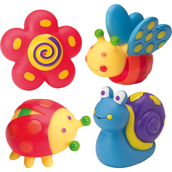 Набор игрушек для ванны Alex Сад, 4 штИгрушки для ванной<br>Характеристики товара:<br><br>• возраст: от 6 месяцев;<br>• материал: резина;<br>• в комплекте: 4 игрушки;<br>• размер упаковки: 16х13х5 см;<br>• вес упаковки: 175 гр.;<br>• страна производитель: Китай.<br><br>Игрушки для ванной «Сад» Alex развлекут малыша во время купания. Они могут самостоятельно плавать по поверхности воды и набирать в себя воду. Игрушки упакованы в удобную сумочку с ручками для хранения. Все фигурки выполнены из безопасных материалов и не содержат вредных компонентов.<br><br>Игрушки для ванной «Сад» Alex можно приобрести в нашем интернет-магазине.<br>Ширина мм: 120; Глубина мм: 48; Высота мм: 156; Вес г: 175; Возраст от месяцев: 60; Возраст до месяцев: 2147483647; Пол: Унисекс; Возраст: Детский; SKU: 7319364;